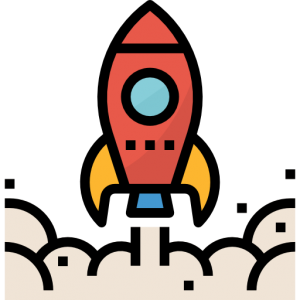 Rocket launch icon by Monkik of Flaticon.com.