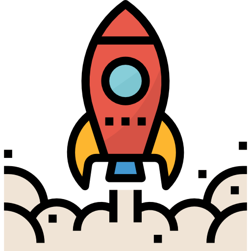 Rocket launch icon by Monkik of Flaticon.com.