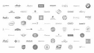 Image showing logos of enterprises who have worked with Eric Weaver