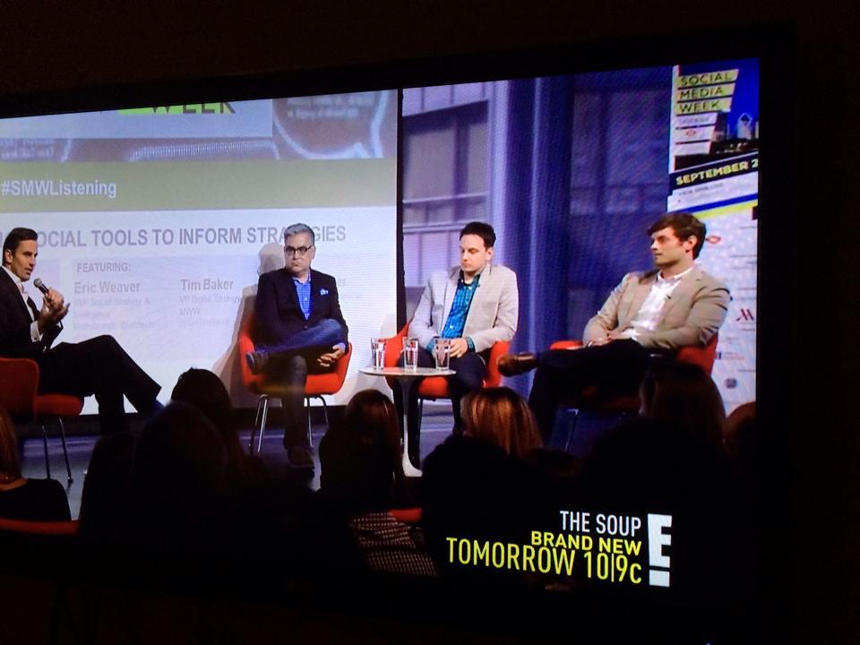 "Speaking on social media on E!'s ""Giuliana and BIll"" as part of Social Media Week Chicago"